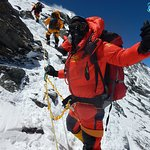 on the way to Everest Summit