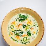 OKROSHKA — traditional cold soup, chicken/veal/shrimps.