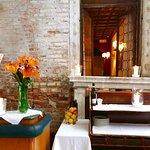 Il Cortile, ristorante nel giardino privato dell'hotel