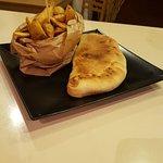 Panzerotto al forno con patatine