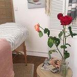 ambiance fleurie dans la cabine de lassage