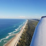 ...and there she blows! The pristine beaches of Stradbroke Island...nothing but Pacific Ocean no