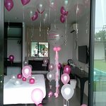 Balloon Decoration Service by Isan Flowers