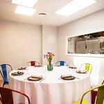 Reservado para comidas o cenas privadas