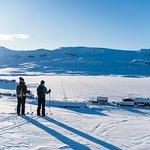 View of Finse and the glacier Hardangerjøkulen (Foto: Bård Basberg)