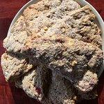 Garden strawberry white chocolate scones - fresh baking daily