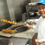 our tandoor chef preparing for the evening.