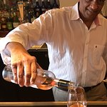 Samir is happy to suggest and pour a glass of wine that suits your particular taste.