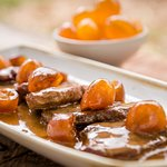 Pork fillet with kumquat