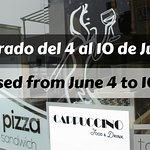 CERRADO del 4 al 10 de JUNIO - CLOSED from JUNE 4 to 10th