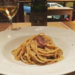 Spaghetti burro e alici con friulano Toc Bas Ronco del Gelso