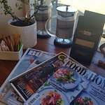 For the Traveller, wonderful magazines to read  and FREE WIFI
