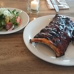 1/2 rack of ribs slow cooked on special now!