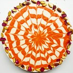 Pistachio rose water and orange cheesecake