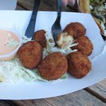 Mac and cheese lobster balls