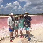 Mayan pink lake