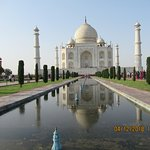 Taj Mahal with reflection