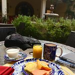 breakfast is included and can be served on the patio