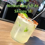 Always a cold beverage at Skippy's! All day Happy Hour Wednesdays.