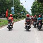motorbike riders in tam coc