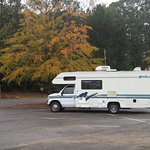 my motorhome in the parking lot