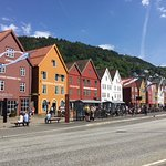 View of Bryggen from across the road