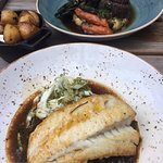 The halibut and the ox cheeks