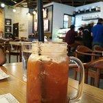 Orange passionfruit iced tea