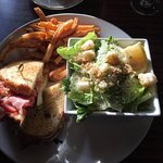 Montreal Smoked Beef Reuben Sandwich and Ceasar salad