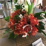 Flower arrangements made by staff