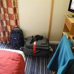 No folding luggage rack available.
