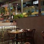Pleasant surroundings and full bar service