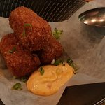 Satay chicken croquettes kaffir lime, house made chilli oil, sambal mayo (3 pieces)