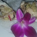 Oysters on the half shell with a cucumber mignonette