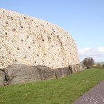 White stone face of right section of mound