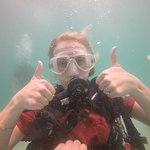Kimberley having fun on her dives