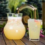 Home made peach lemonade