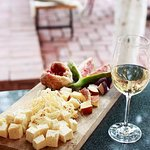 Georgian traditional chees and wine