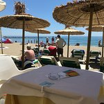 Fantastic lunch at the beach