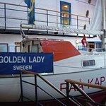 Golden Lady, den trefaldige ensamvärldsomseglaren Kurt Björklunds segelbåt.