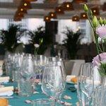 La mesa durante las celebraciones