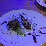 starter - monkfish with aubergine in XO sauce