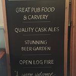 Pub Classics Menu also ALL DAY as well as Carvery