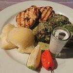 Rourou balls & grilled fish