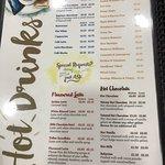 The extensive menu at Sprinkles Gelato.