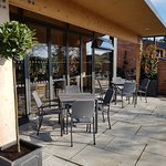 Part of our outdoor seating area