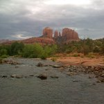 Cathedral Rock and Oak Creek at Red Rock Crossing State Park
