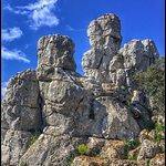 Vista de formaciones rocosas