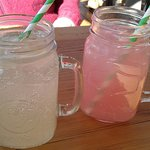 Lemonade and Pink Grapefruit drinks
