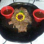 Bife Ancho com molho barbecue